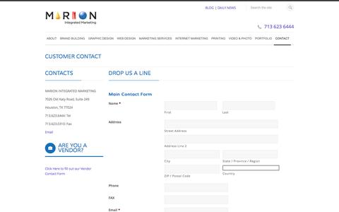Houston Advertising Agency, Graphic Design, Marketing Firm - Marion