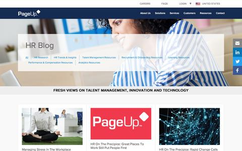 Screenshot of Blog pageuppeople.com - HR Blog - The Latest in Talent Management from PageUp - captured May 9, 2017