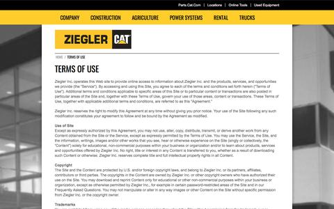 Terms of Use | Ziegler CAT