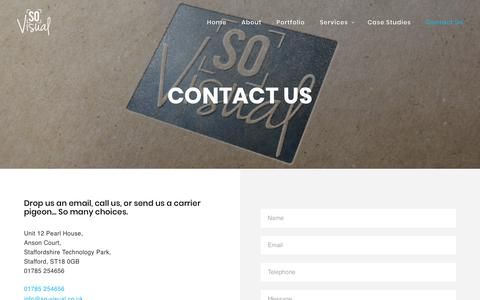 Screenshot of Contact Page so-visual.co.uk - So-Visual - captured July 26, 2018
