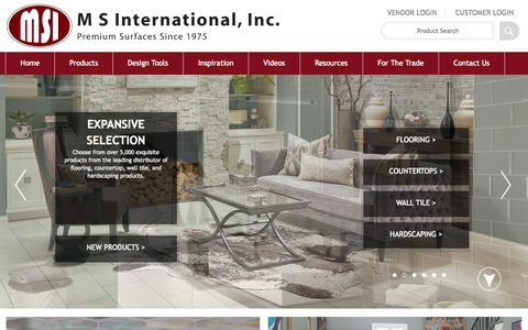 Screenshot of Home Page msistone.com - Natural Stone | Natural Stone and Porcelain Distributor | MSI Stone - captured Oct. 1, 2015