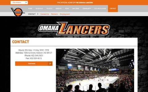 Screenshot of Contact Page lancers.com - Contact - captured Sept. 25, 2018