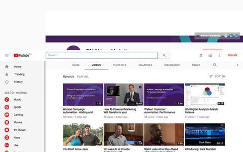 IBM Watson Marketing - YouTube - YouTube