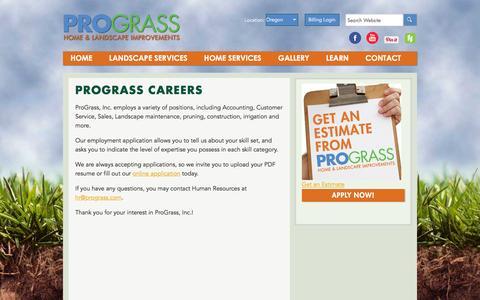 Screenshot of Jobs Page prograss.com - Prograss Careers - Prograss - captured Feb. 1, 2016