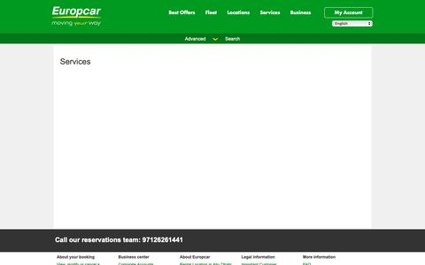 Screenshot of Services Page europcar-abudhabi.com - Europcar Abu Dhabi - Services - captured Jan. 3, 2019