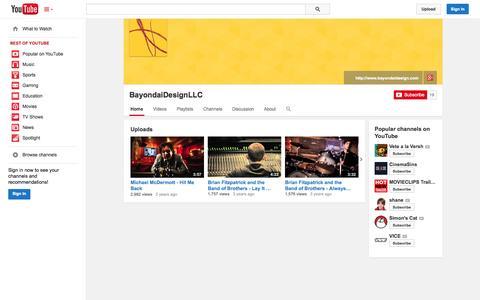 Screenshot of YouTube Page youtube.com - BayondaiDesignLLC  - YouTube - captured Oct. 23, 2014