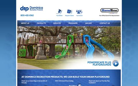Screenshot of Home Page Privacy Page playdrp.com - Dominica Recreation Products - captured Oct. 5, 2014