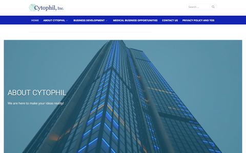 Screenshot of Home Page cytophil.com - Home – Cytophil, Inc - captured Sept. 19, 2017