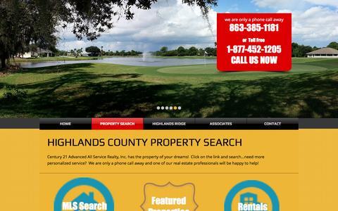 Screenshot of Services Page sebringflorida.com - sebringflorida | PROPERTY SEARCH - captured Nov. 2, 2016