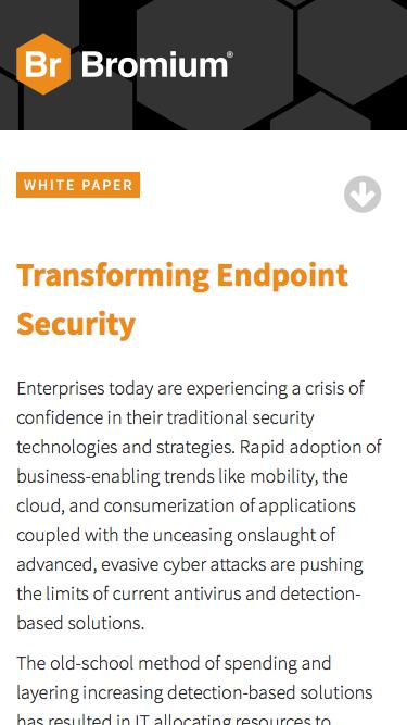 Bromium: White Paper - Transforming Endpoint Security