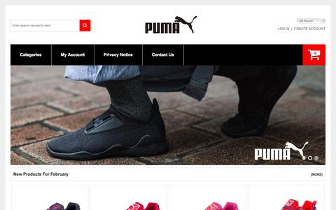 Screenshot of Home Page icymedia.co.uk - Puma Sale UK Online| Men's Sport And Running Shoes Cheap Buy - captured Feb. 23, 2018