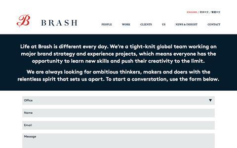 Screenshot of Signup Page brashbrands.com - Join Brash - captured July 30, 2016