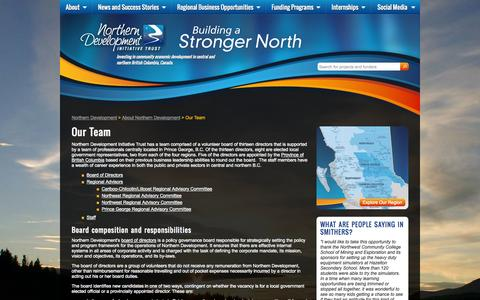 Screenshot of Team Page northerndevelopment.bc.ca - Our Team   Northern Business Development Consulting   British Columbia - captured Oct. 9, 2014