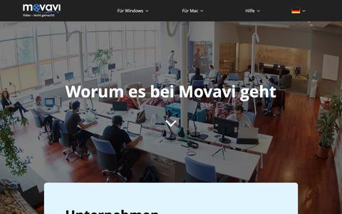 Screenshot of About Page movavi.de - Worum es bei Movavi geht - captured Nov. 19, 2018