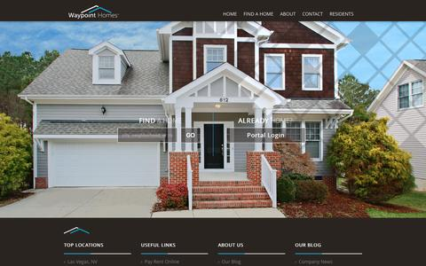 Screenshot of Home Page waypointhomes.com - Homes For Rent - WaypointHomes.com - captured Jan. 30, 2016