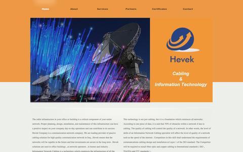 Screenshot of Home Page heveknet.com - ::HEVEK:: - captured Nov. 8, 2016