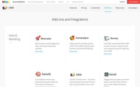 CRM Add-ons & Third-party Integrations - Zoho CRM