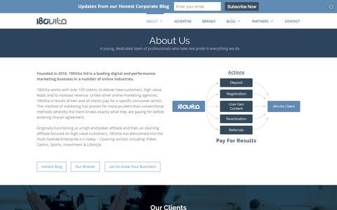 Screenshot of About Page 180vita.com - About us - 180Vita - captured Aug. 16, 2015