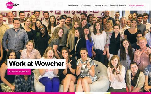 Screenshot of Jobs Page wowcher.co.uk - Jobs at Wowcher - captured Jan. 22, 2017