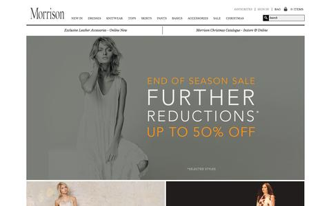 Screenshot of Home Page morrisonshop.com - Home page - captured Jan. 22, 2015