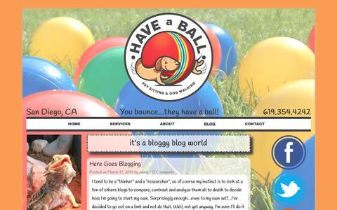 Screenshot of Blog haveaballpetsitting.com - Blog   Pet Sitter - Dog Walker - San Diego   Have a Ball Pet Sitting - captured Sept. 27, 2018