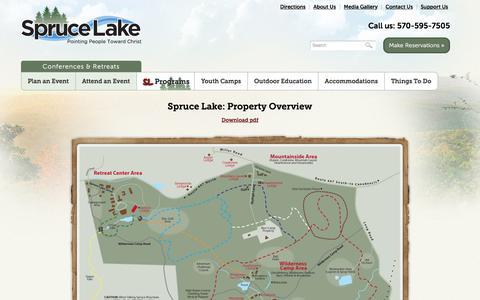 Screenshot of Maps & Directions Page sprucelake.org - Map - Spruce Lake Retreat - captured Nov. 14, 2017