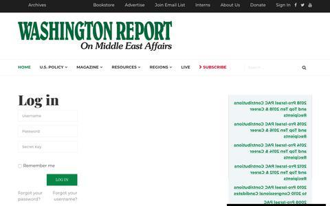 Screenshot of Login Page wrmea.org - WRMEA - WRMEA - captured May 30, 2019