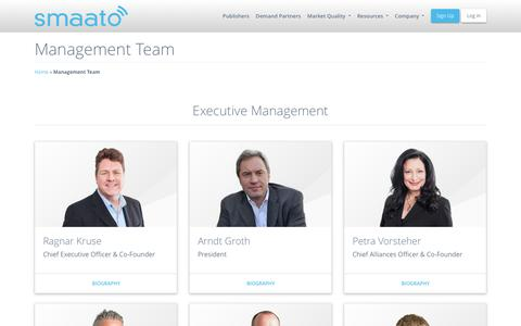 Screenshot of Team Page smaato.com - Smaato's Management/C-Level Executives - Smaato - captured June 22, 2018