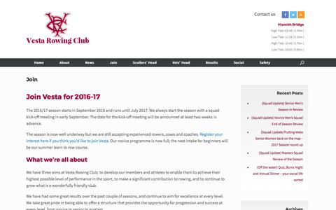 Screenshot of Signup Page vestarowing.co.uk - Join Vesta - captured Oct. 20, 2017