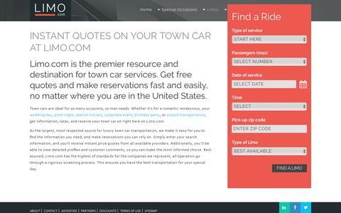 Town Car Rentals | Limo.com