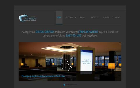 Screenshot of Home Page ad-miror.net - Ad-Miror - captured Sept. 30, 2014