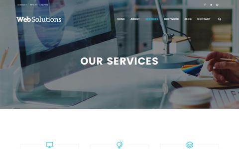 Screenshot of Services Page websolutionspk.com - Services | Web Solutions - captured June 19, 2017