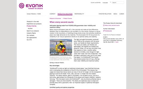 Eurocopter - Evonik Industries - Specialty Chemicals