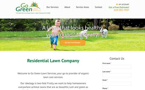 Screenshot of Home Page gogreenlawnservices.com - Organic Lawn Care Services | GoGreen Lawn Services | www.gogreenlawnservices.com - captured May 20, 2017
