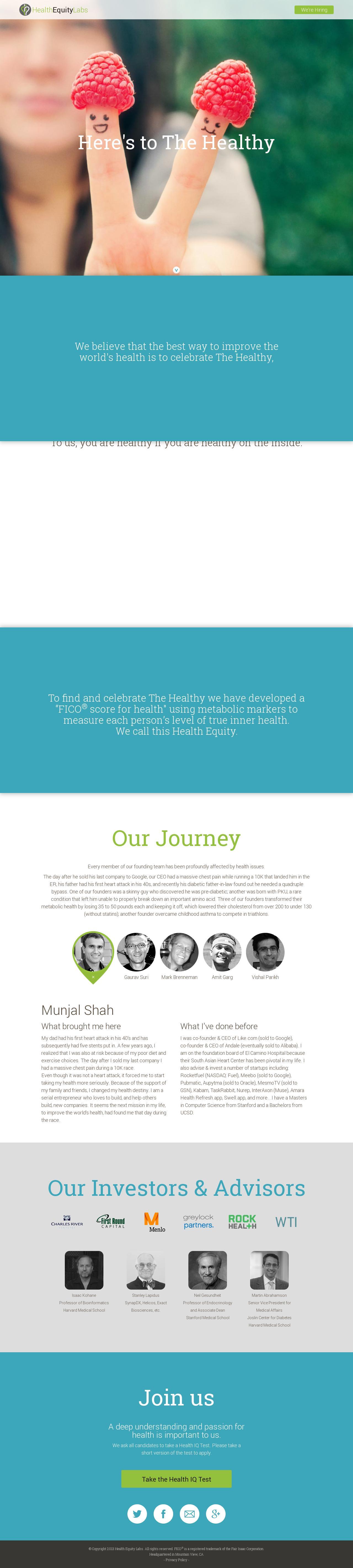 Screenshot of healthequitylabs.com - HealthEquity Labs - captured July 11, 2014