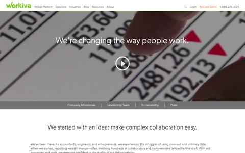 Screenshot of About Page workiva.com - About Workiva – Our Story | Workiva - captured Dec. 4, 2015