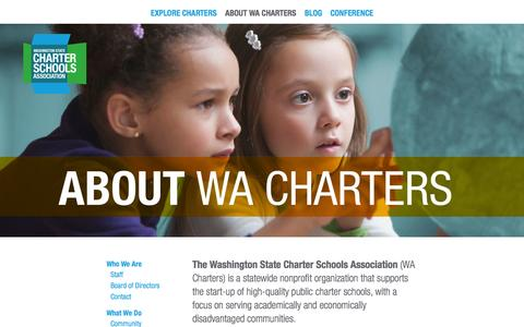 Screenshot of About Page wacharters.org - About WA Charters | Washington State Charter Schools Association - captured Nov. 5, 2014