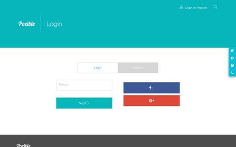 Screenshot of Login Page pozible.com - Pozible • Login - captured May 9, 2016