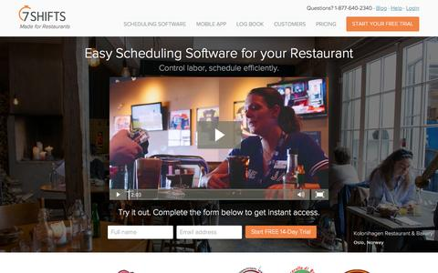 Easy Restaurant Scheduling Software. Try it Free.   7shifts