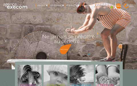 Screenshot of Home Page agence-execom.fr - AGENCE EXECOM conseil en communication - captured Sept. 29, 2018