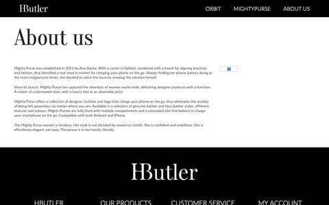 Screenshot of About Page hbutler.co - About  Us - captured Nov. 1, 2018