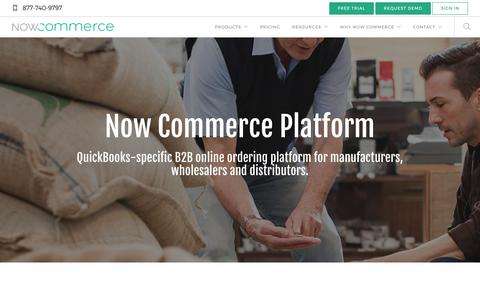 Screenshot of Products Page nowcommerce.com - B2B Ecommerce Platform for QuickBooks - Now Commerce - captured July 27, 2018