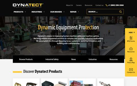 Screenshot of Home Page dynatect.com - Dynatect Manufacturing, formerly A&A Manufacturing - captured Sept. 30, 2018