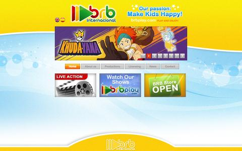 Screenshot of Home Page brb.es - BRB Internacional - captured Oct. 4, 2014