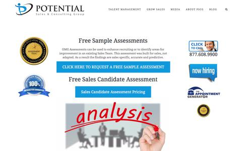 Free Sample and Sales Candidate Assessments – Potential Sales and Consulting Group
