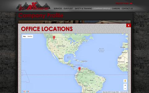 Screenshot of Maps & Directions Page akdrilling.com - Company Profile - AK Drilling, Inc. - captured Feb. 4, 2016
