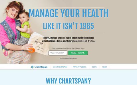 Screenshot of Home Page chartspan.com - ChartSpan - captured Sept. 13, 2014