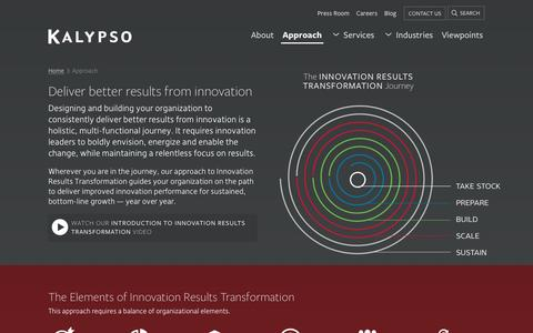 Our Approach to Innovation | Innovation Results Transformation Consulting | Kalypso