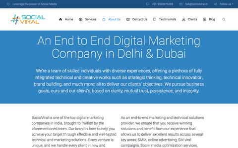 Screenshot of About Page socialviral.in - Social media marketing agency in delhi | Social Viral - captured Jan. 11, 2016