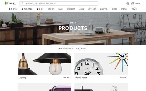 Screenshot of Products Page houzz.com - Shop Products on Houzz - captured Sept. 30, 2015
